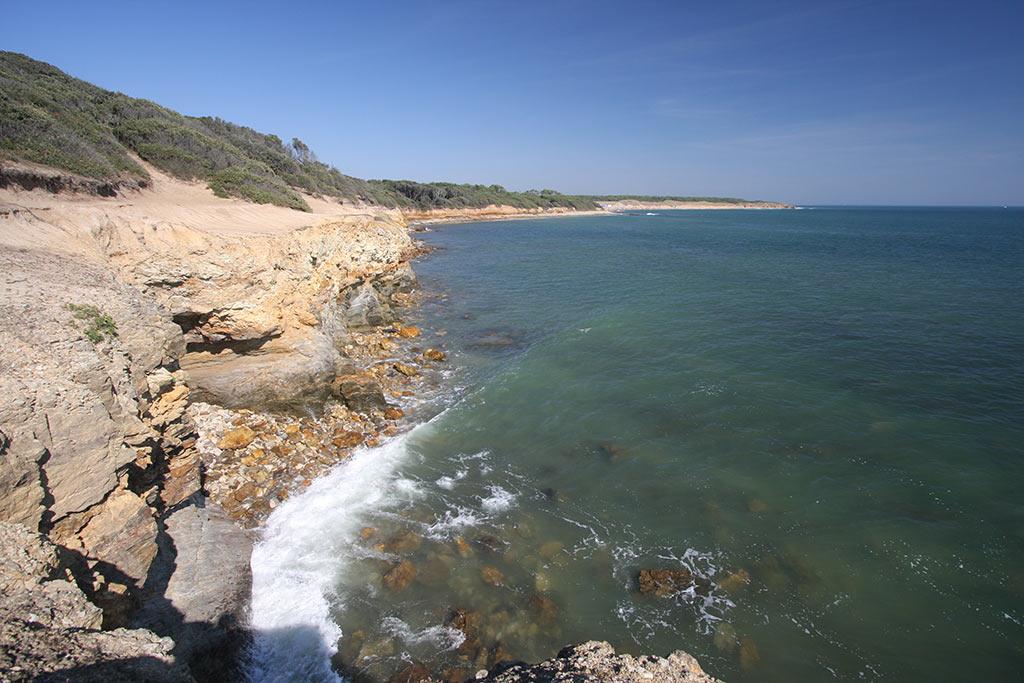 La côte rocheuse de jard